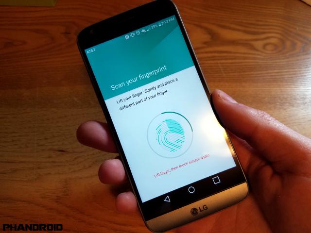 LG G5 fingerprint