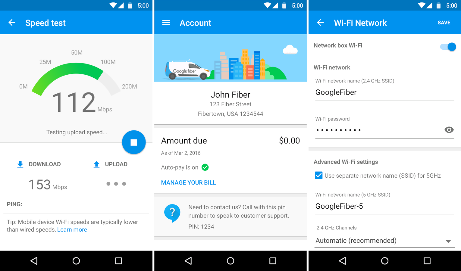 Google releases an app for managing your Google Fiber account
