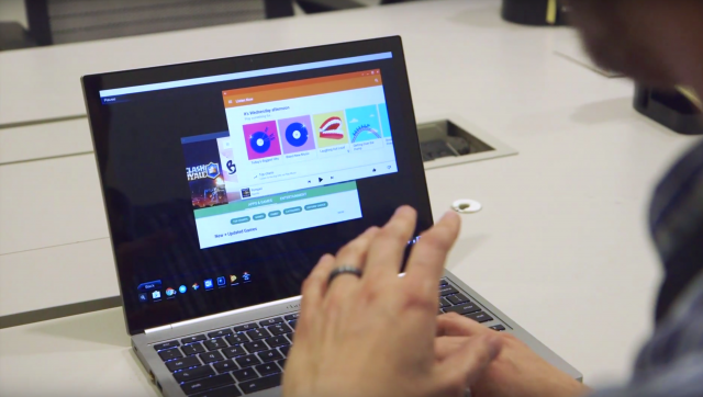 Android apps running Chromebook Pixel