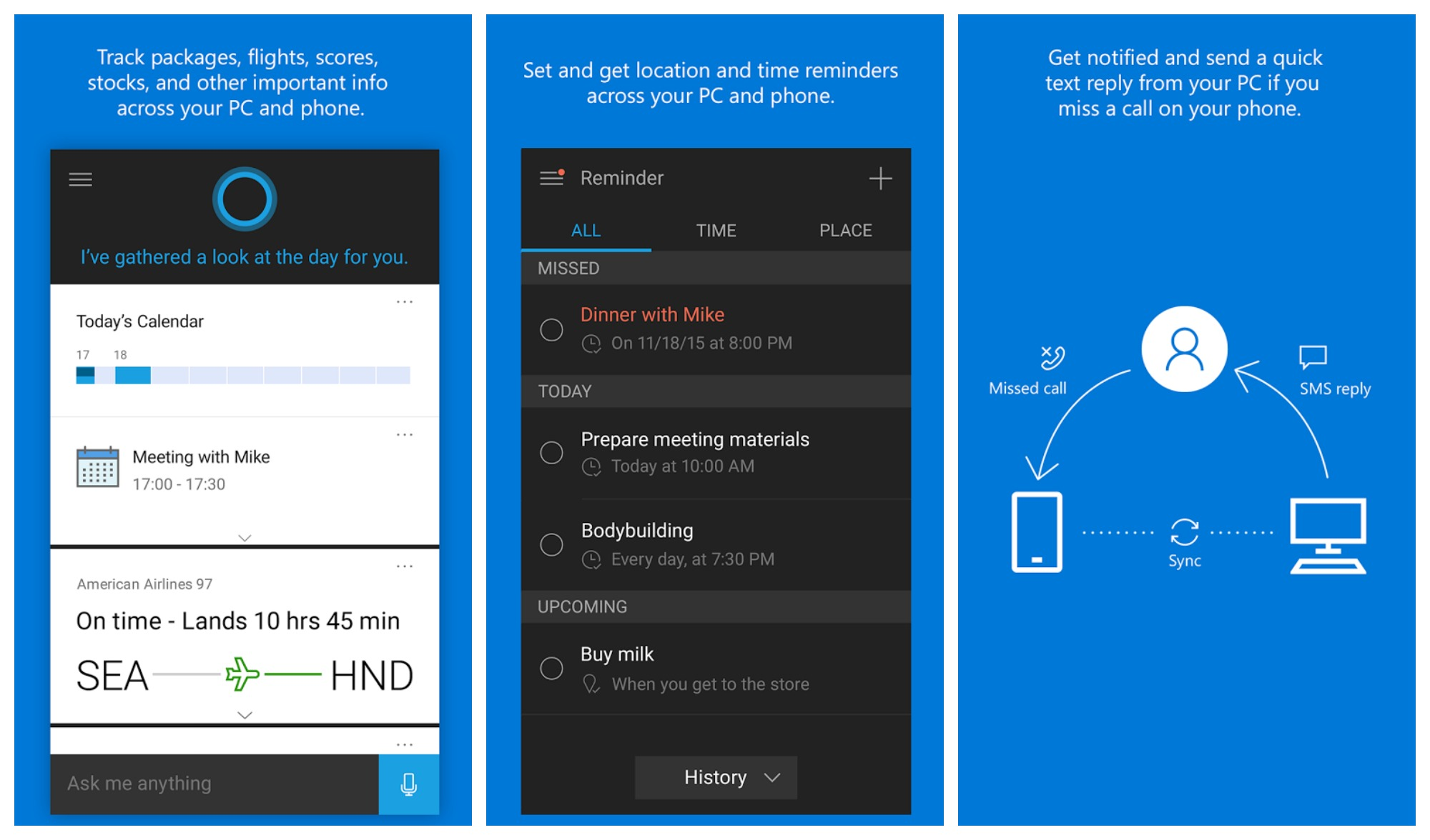 Cortana update brings android notifications to windows 10 for Application miroir android