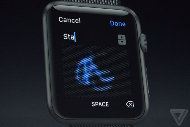 apple watchos 3 hand writing