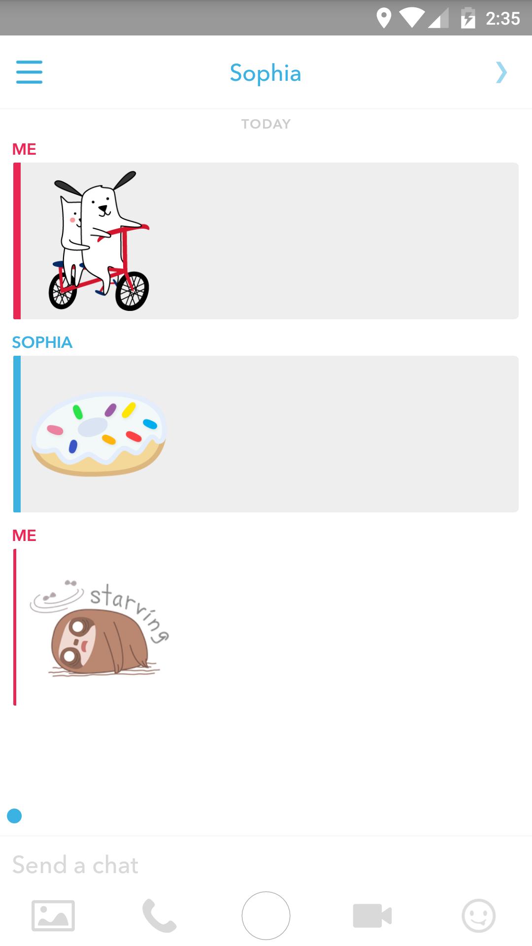 These Are Pretty Selfexplanatory, But To Sent Stickers Just Click The  Smiley Icon In The