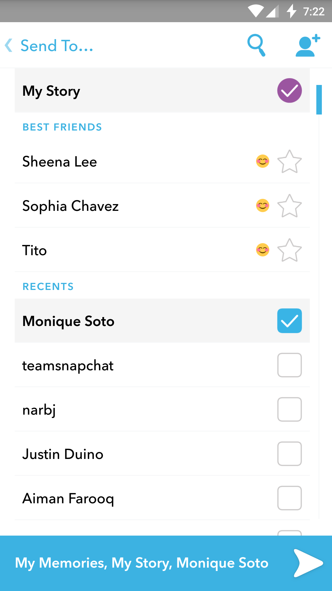 Snaps And Stories You've Saved To Memories Can Be Reposted Your Story Or  Sent Individually To Friends Whenever You Like For Snaps, Just Long Press  On The