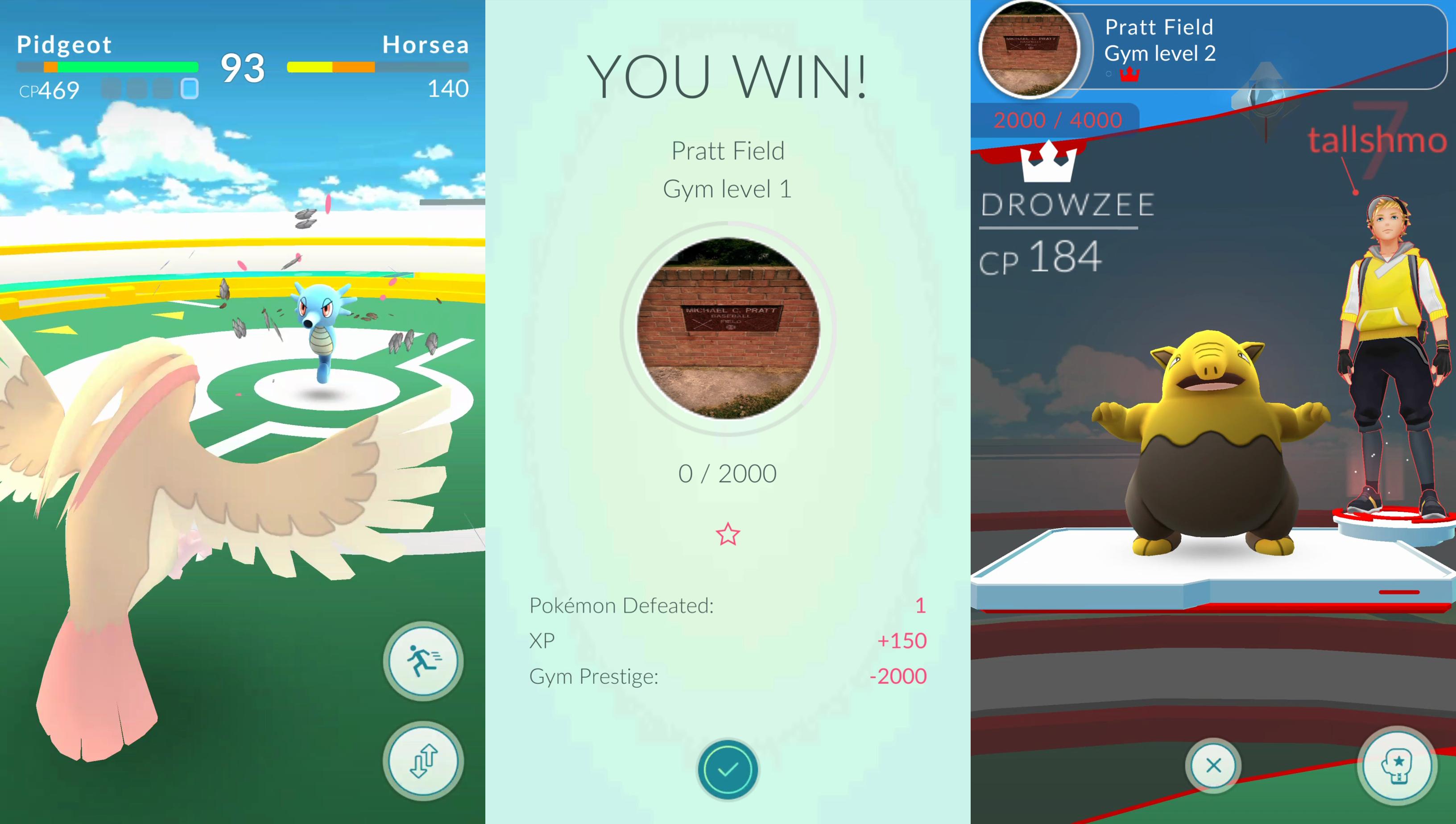 Pokemon Gym Battles Go