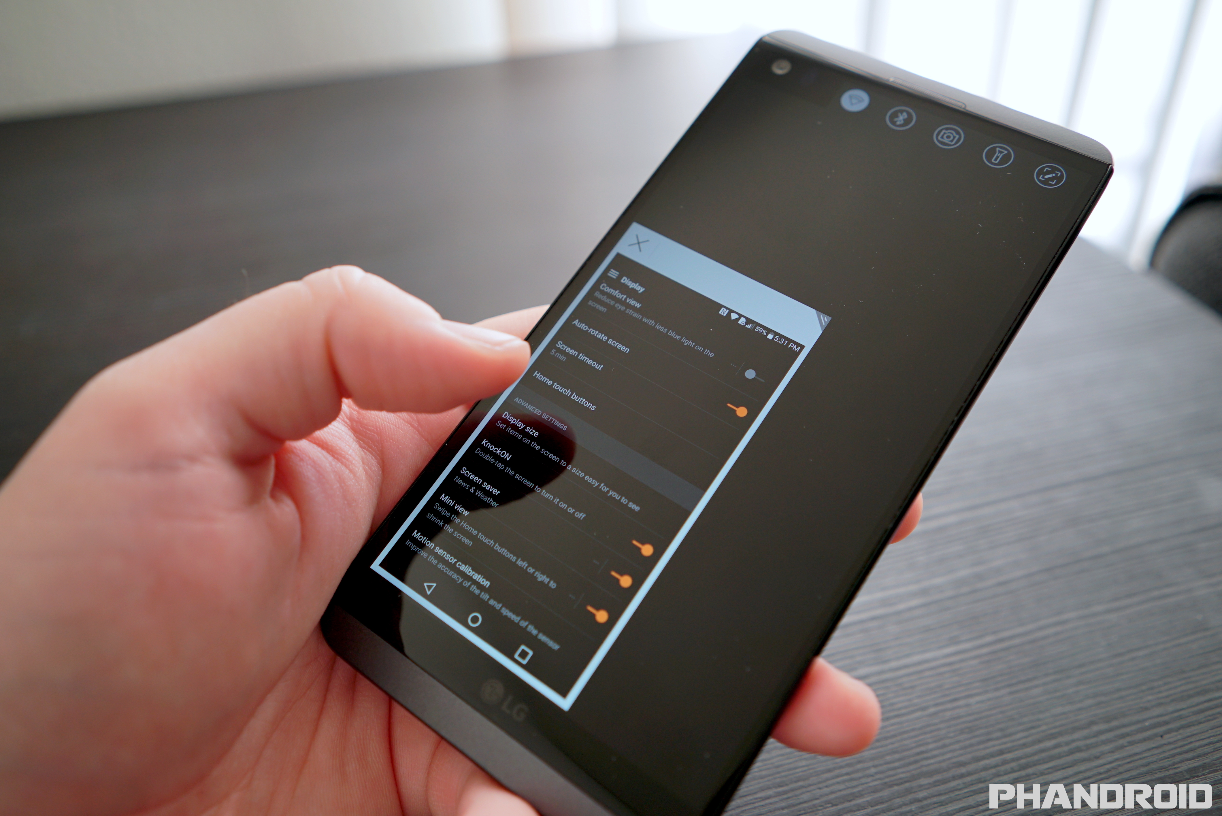 how to change time on lg phone
