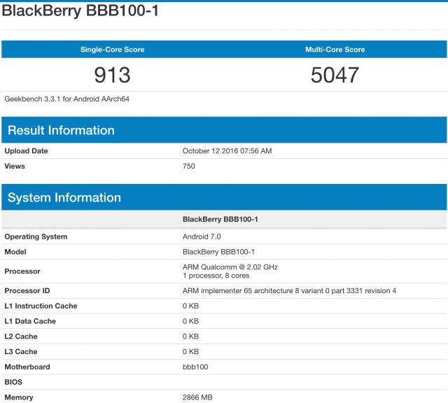 "The BlackBerry ""Mercury"" will include 3GB of RAM and runs ..."