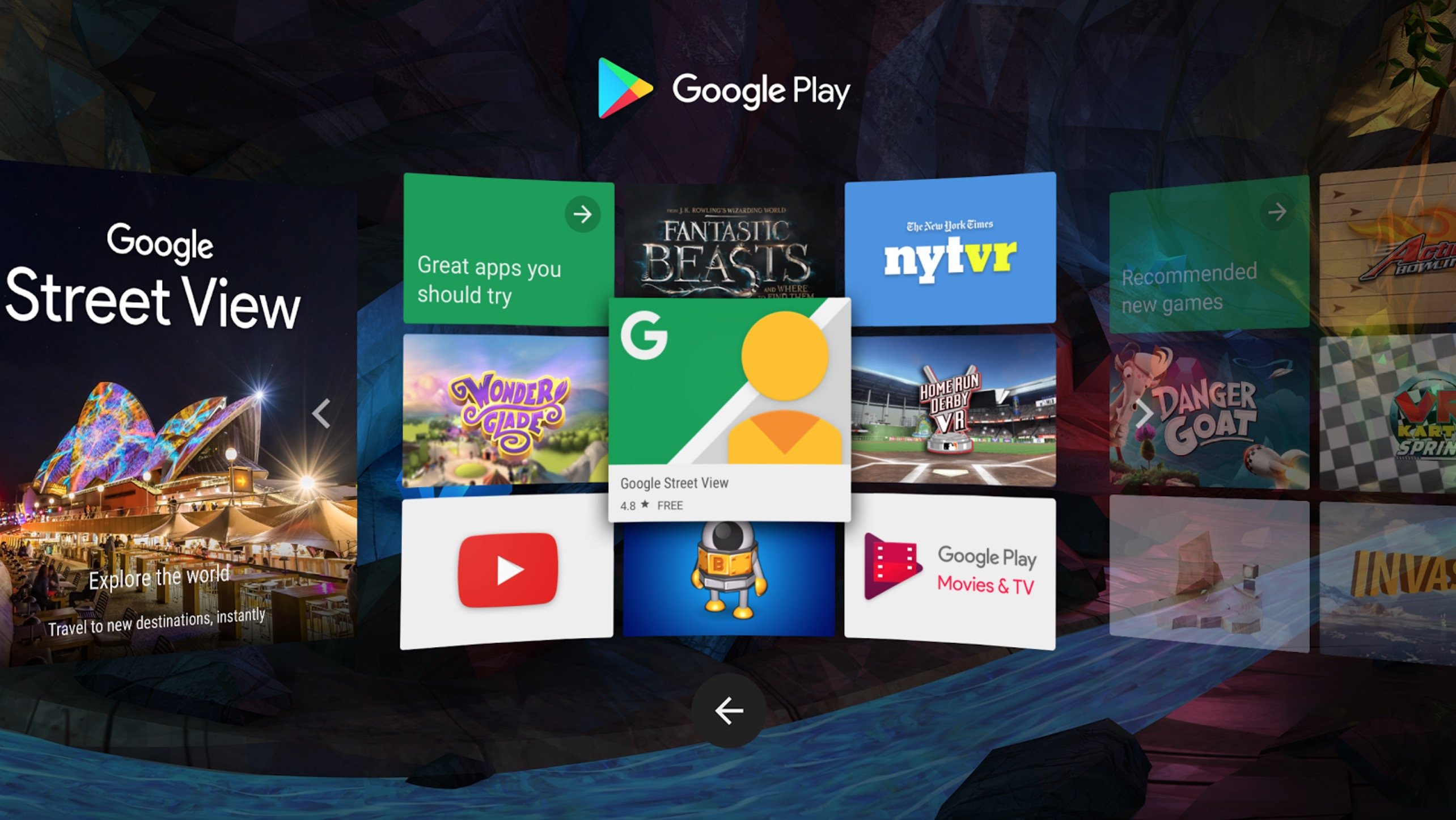 how to choose an app to play on daydream