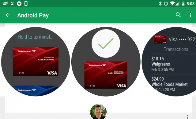 Leaked screenshots show Android Pay on Android Wear 2.0