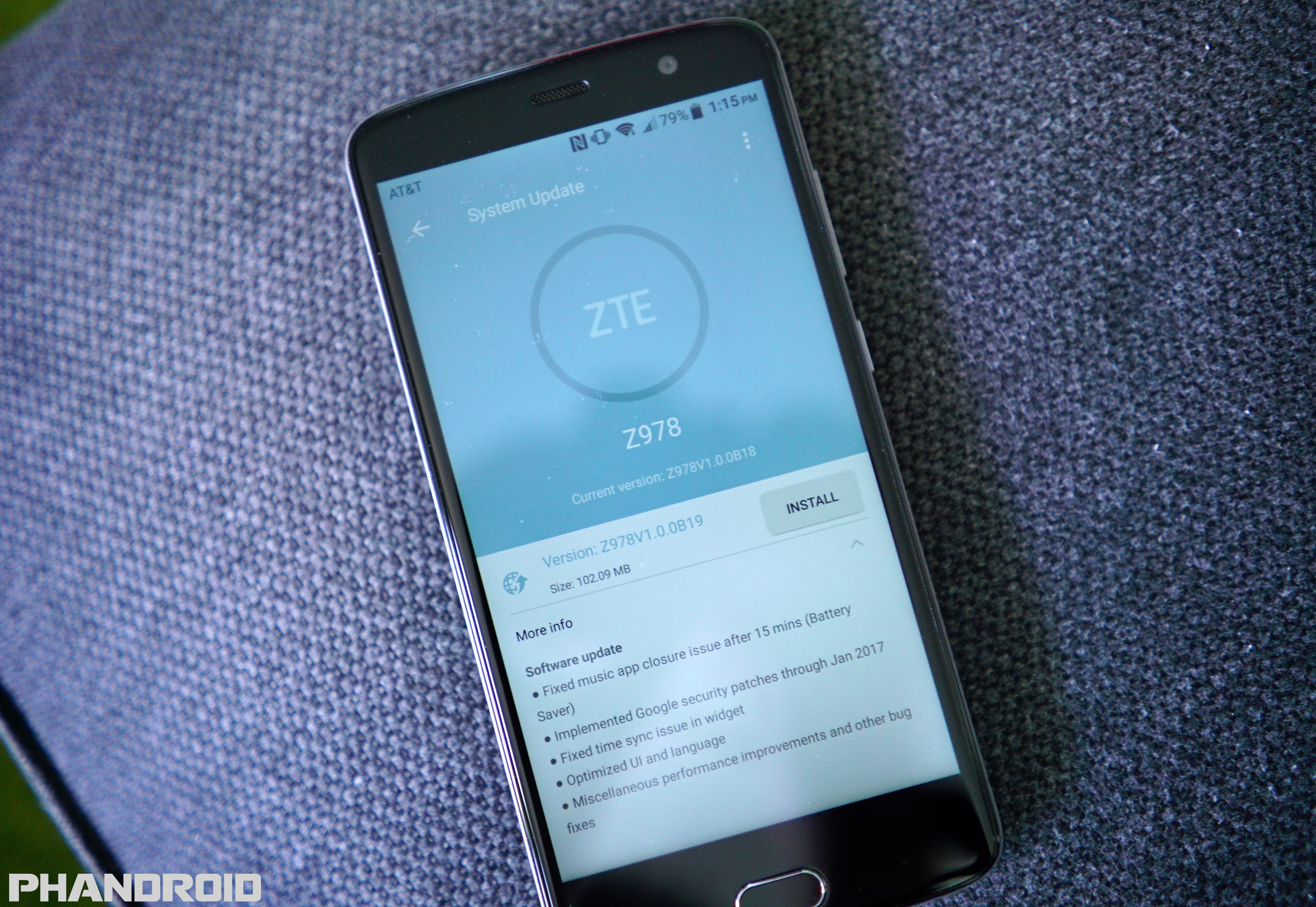 The Update Doesn't Just Fix The Music App Bug, With Zte Noting Other