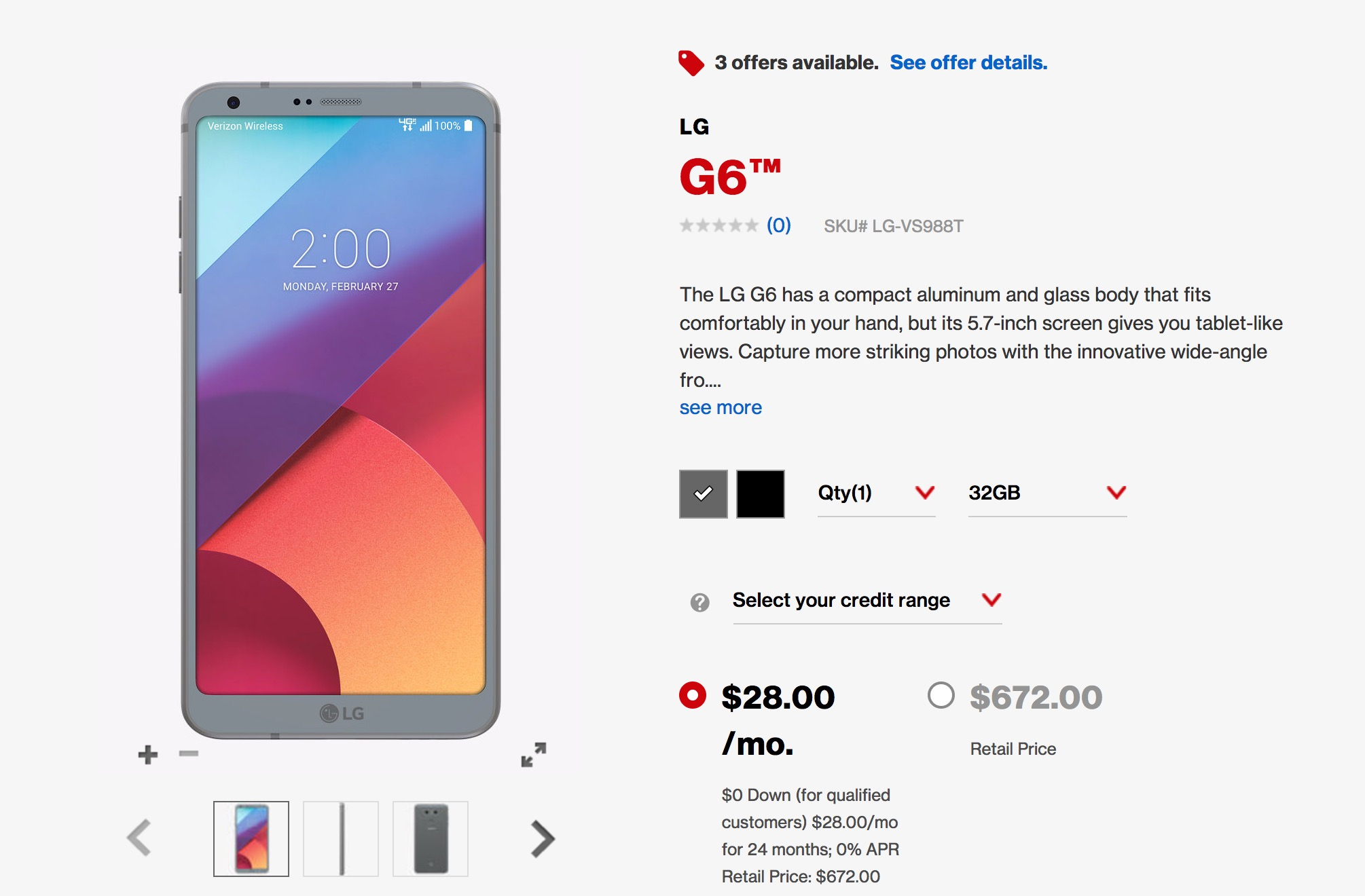 Lg G6 Now Available At Verizon Wireless