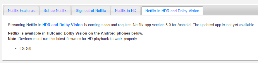 Netflix update adds HDR support for the LG G6