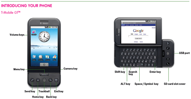 t mobile g1 user guide leaked rh phandroid com T- Mobile First Android Phone