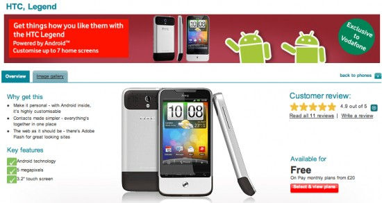 Android April Brings Three New Handsets to Vodafone