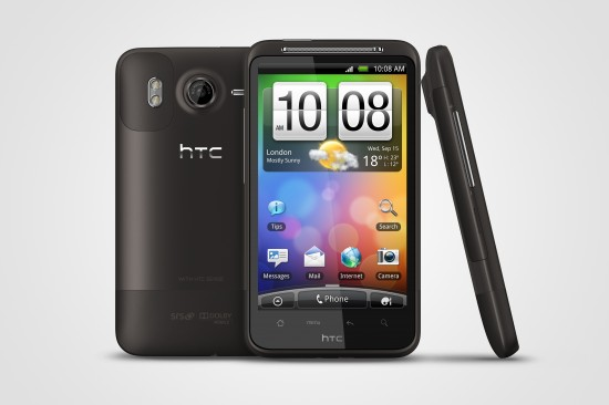 HTC Desire HD_Front+Back+Left