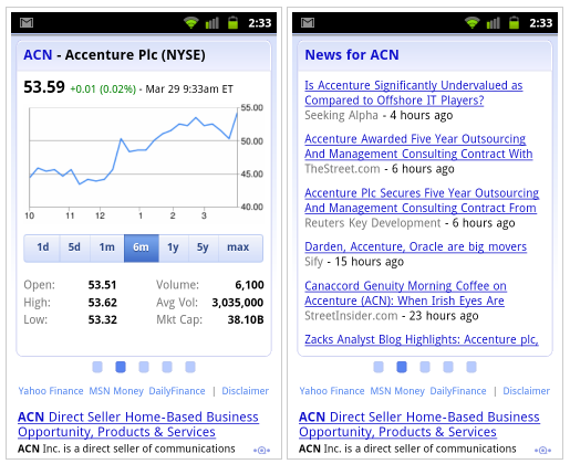 Google Mobile Search Adds Improved Stock Ticker Symbol Search Features