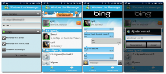 windows live messenger for android 550x246