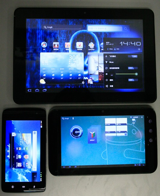 10 Inch Dell Streak Pro Pictured Next To Its Smaller Siblings