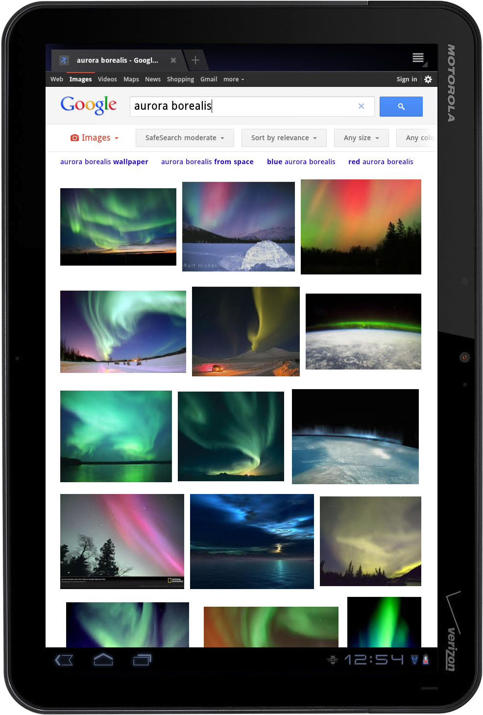Google Search Web For Tablets Is Here