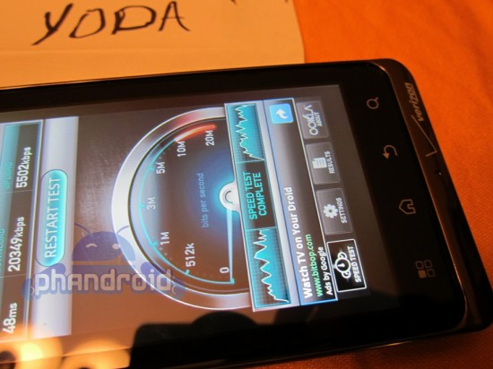 droid bionic shows its speed in new image battery life said to be