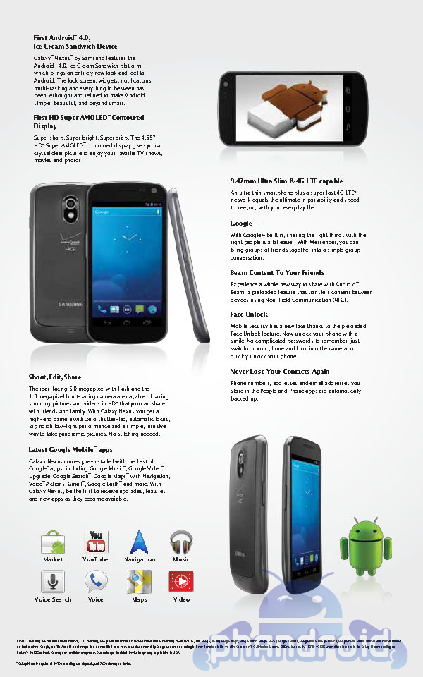 Samsung Galaxy Nexus Lte Revealed To Be 9 47mm Thick On