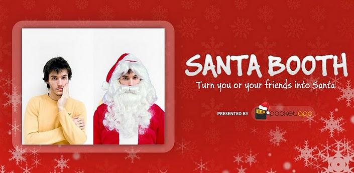 Santa Booth Transforms You Into Santa Claus Holiday App