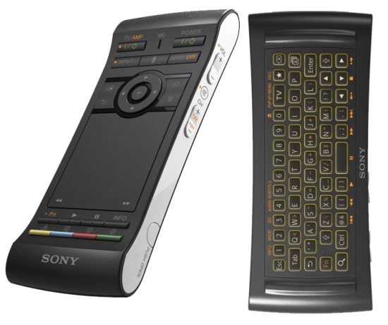sony google tv remote. (2) sony\u0027s google tv blu-ray player has been updated to a much more compact and attractive form factor, essentially halving the size, adding 3d sony tv remote
