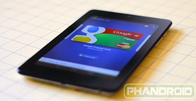 Nexus 7 Google Wallet 1