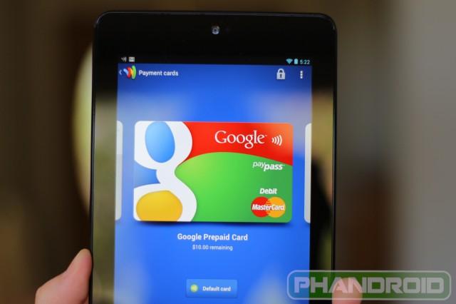 Nexus 7 Google Wallet 2
