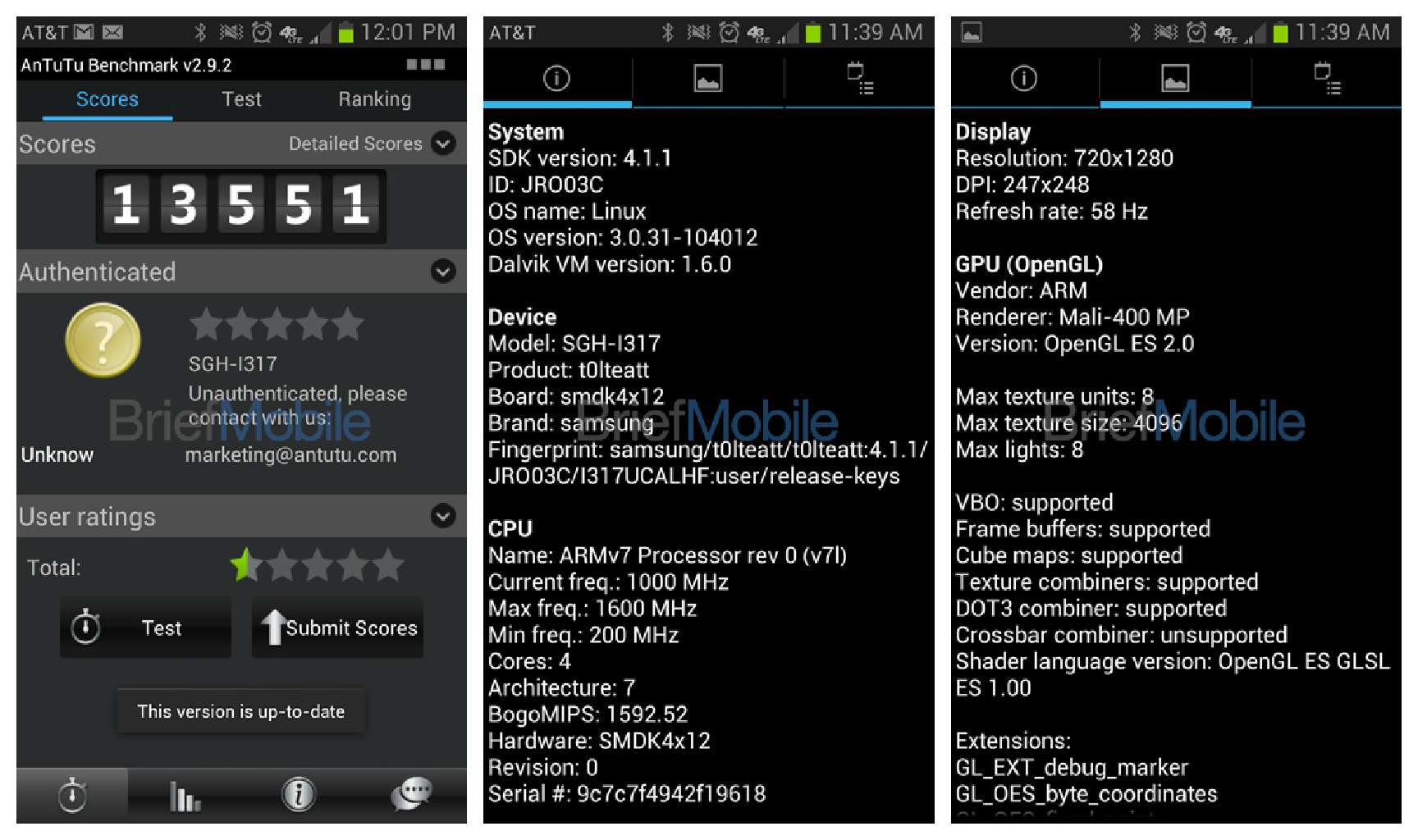 AT&T Galaxy Note 2 Confirmed In Leaked Screenshots ...