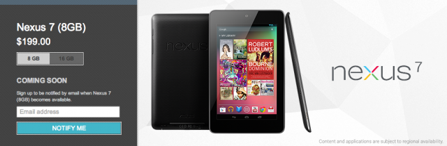 8GB Nexus 7 No Longer In The Play Store, Possibly Never To ...