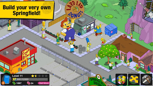 the simpsons tapped out is a city building game set in iconic