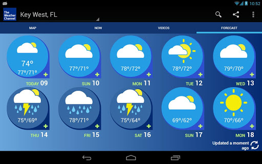 weather channel app gets optimized for android tablets