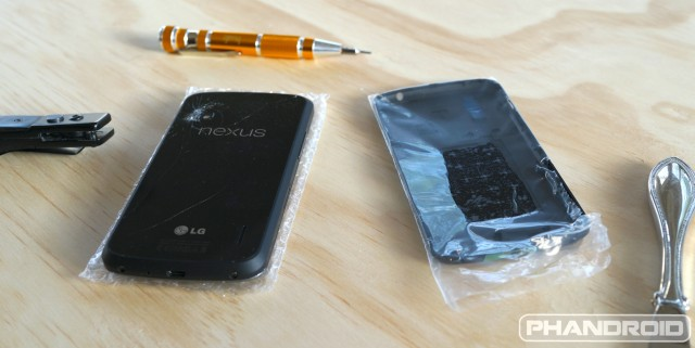 Nexus 4 replacement battery cover DSC09816