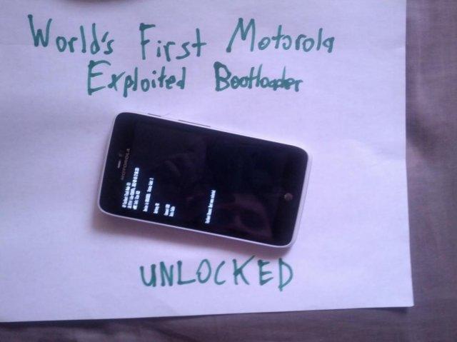 Bootloader unlock method found for several Motorola devices