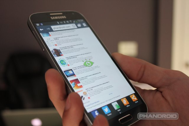 Samsung Galaxy S4 Smart Scroll