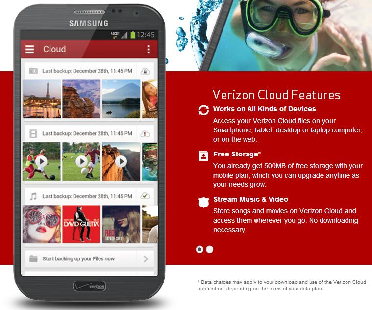 how to use the verizon cloud app