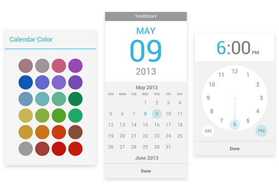 Google Calendar color date time