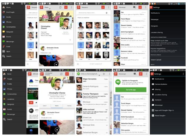 Google Plus Old vs New