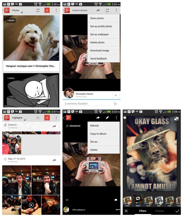 Google Plus Photos old vs new