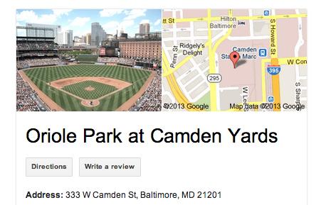 Camden Yards Address