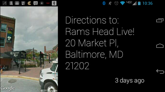 Google Glass Walking Directions