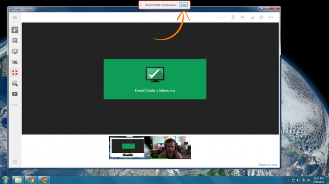 google plus hangouts remote desktop