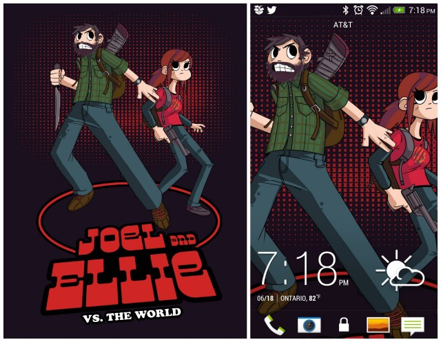 Joel and Ellie vs The World collage
