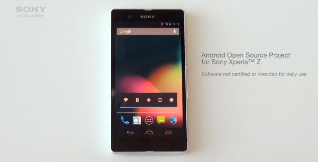 Sony Xperia Z AOSP video