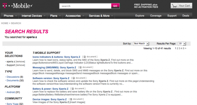 Sony Xperia Z T-Mobile Support docs