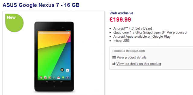 Buy ASUS Google Nexus 7   16 GB   Free Delivery   Currys