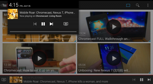 Chromecast Youtube app Android