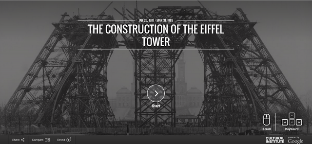 Top Of Eiffel Tower Stairs : Google maps street view takes us up steps to the top