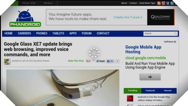 Google Glass web browser browsing