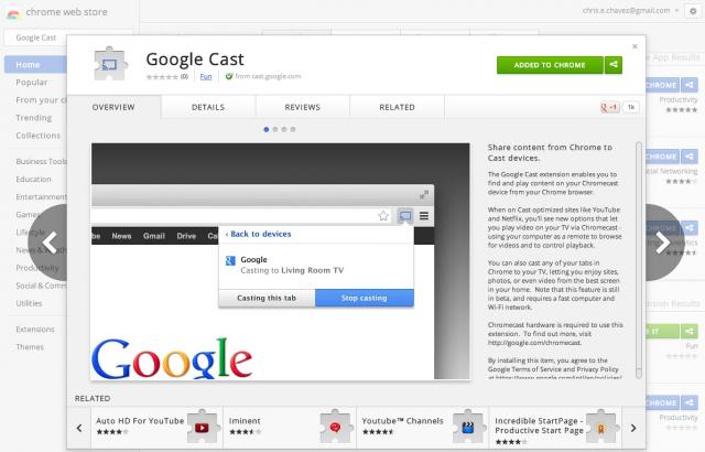 Google cast extension